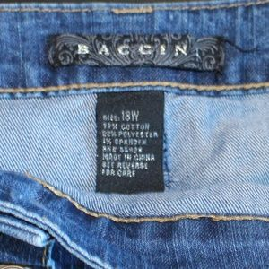 Baccini Skirts - Baccini Midi Button Up Denim Jean Skirt